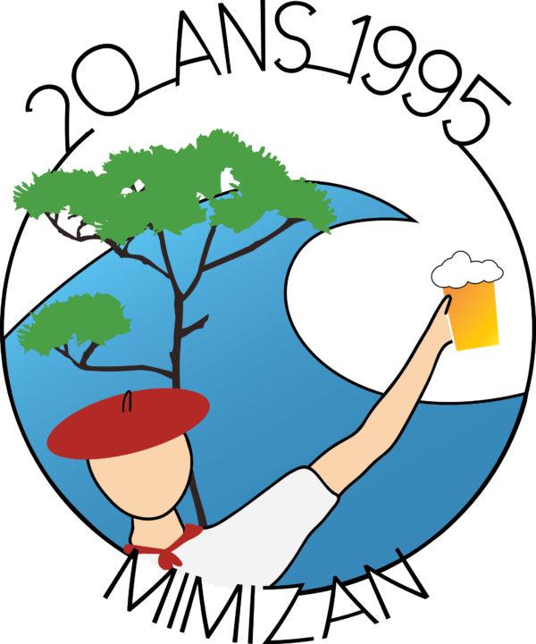 Logo de la bodega 20 Ans 1995 Mimizan
