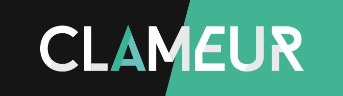 Clameur - Flat Logo Typography