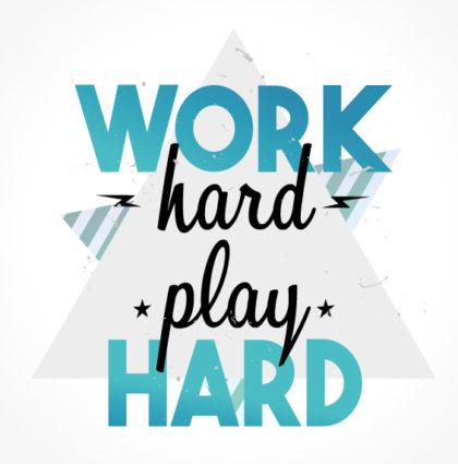 Logo Work Hard Play Hard