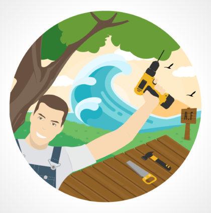 Logo / Visuel pour un Artisan Bois