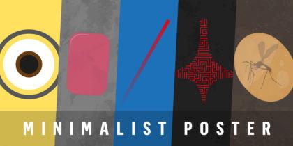 Affiches & posters de film minimalistes
