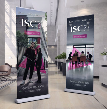 Identité graphique programmes ISC Paris 2019-2020