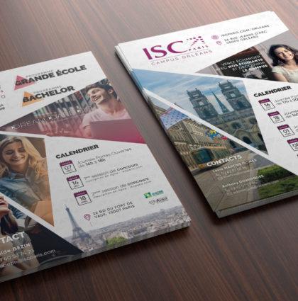 Réalisations graphiques print ISC Paris 2018