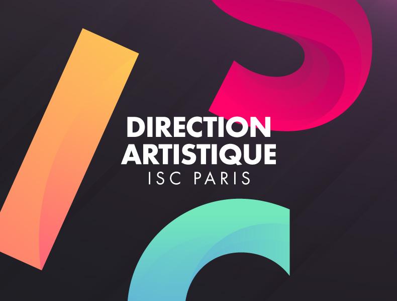 Direction artistique identité visuelle Groupe ISC Paris